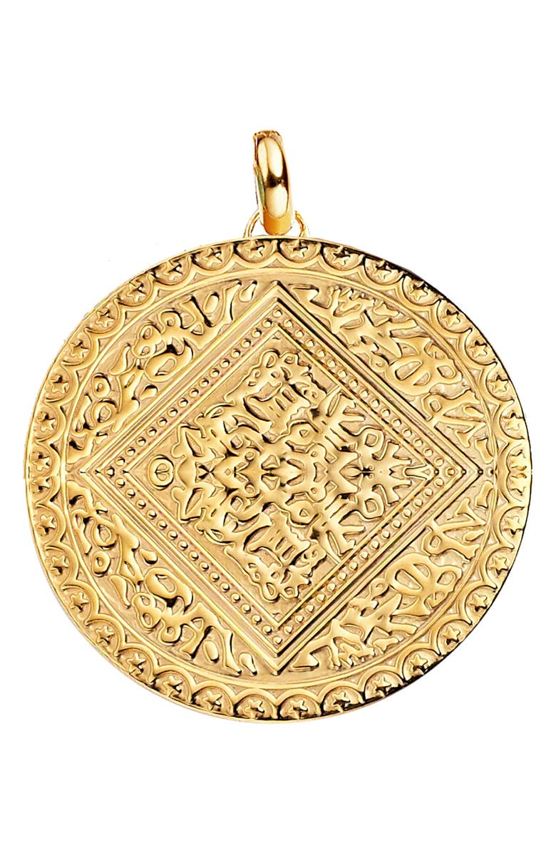 MONICA VINADER Marie Pendant Charm, Main, color, YELLOW GOLD