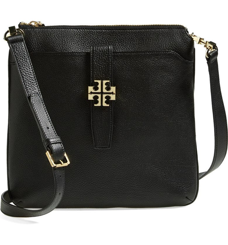 TORY BURCH 'Plaque' Crossbody Bag, Main, color, 001