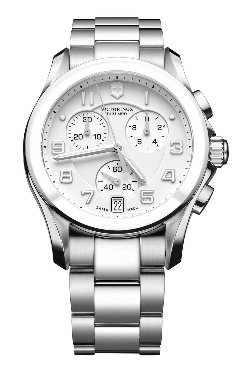 VICTORINOX SWISS ARMY<SUP>®</SUP> 'Chrono Classic' Watch with Ceramic Bezel, Main, color, 040