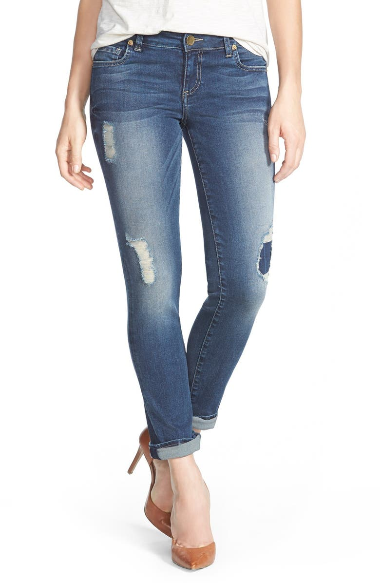 KUT FROM THE KLOTH 'Catherine' Distressed Boyfriend Jeans, Main, color, ACTIVIST