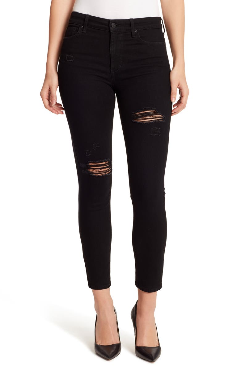ELLA MOSS High Waist Ankle Skinny Jeans, Main, color, 001