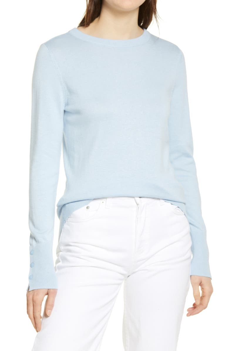 HALOGEN<SUP>®</SUP> Crewneck Sweater, Main, color, BLUE CASHMERE