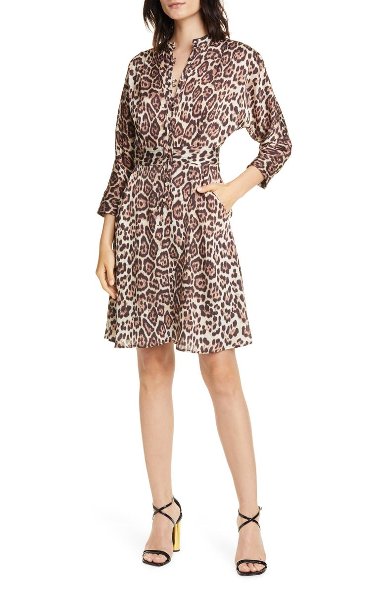 EQUIPMENT Adalicia Long Sleeve Front Button Dress, Main, color, 200