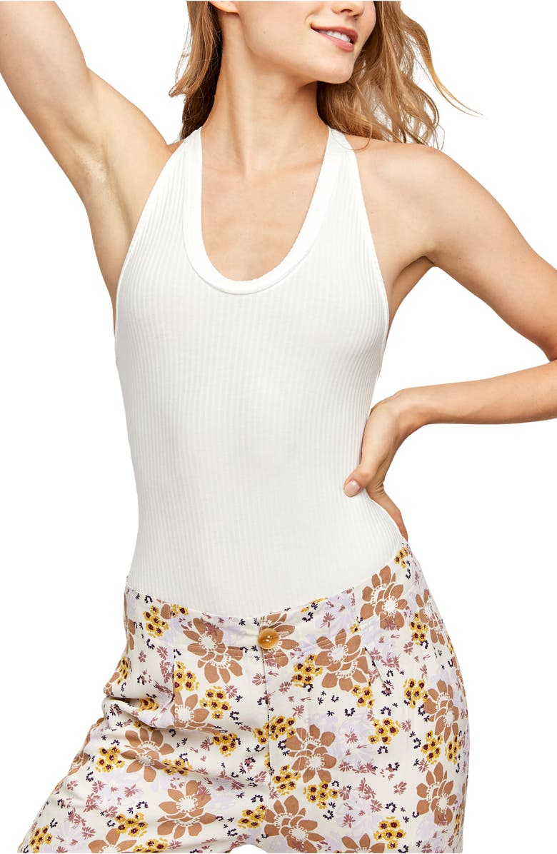 FREE PEOPLE Speed Dial Bodysuit, Main, color, IVORY