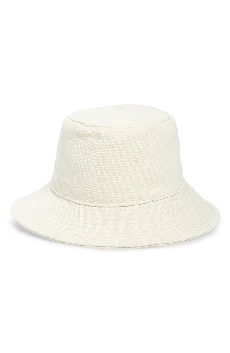 MADEWELL Short Brimmed Canvas Bucket Hat, Main, color, 100