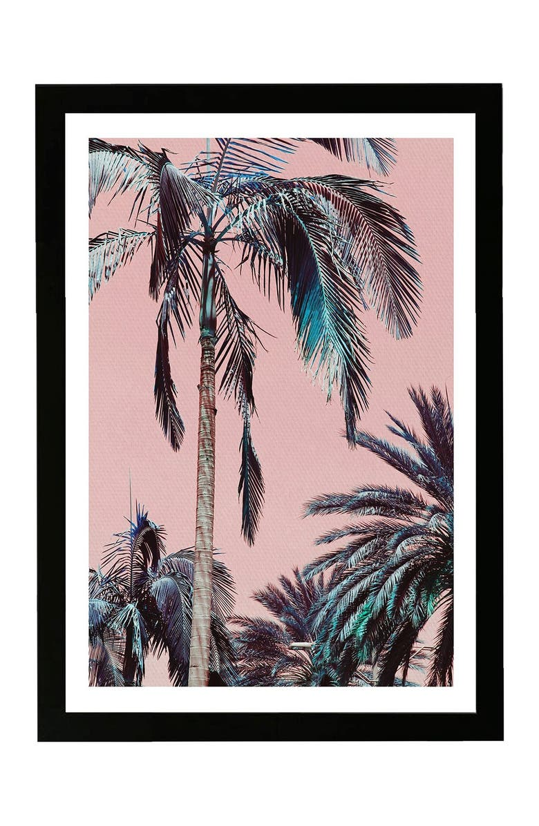 WYNWOOD Beach Vibes Pink Framed Wall Art, Main, color, PINK