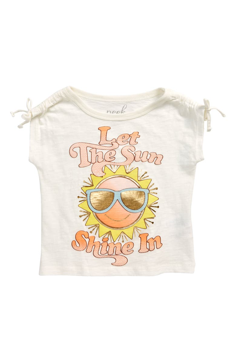 PEEK AREN'T YOU CURIOUS Kids' Let the Sun Shine Graphic Tee, Main, color, WHITE
