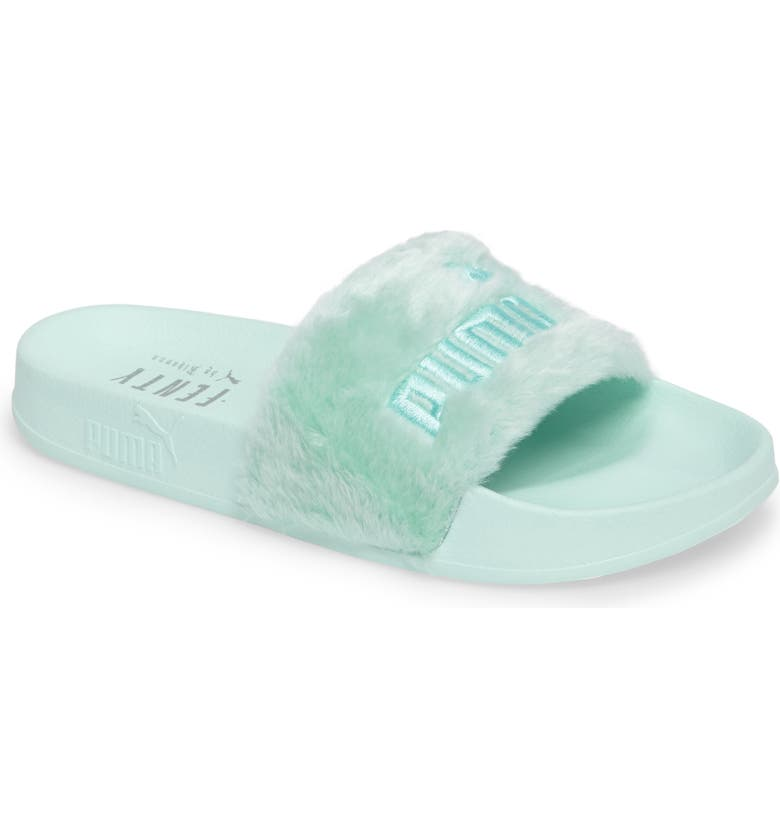 PUMA FENTY PUMA by Rihanna 'Leadcat Fenty' Faux Fur Slide Sandal, Main, color, 300