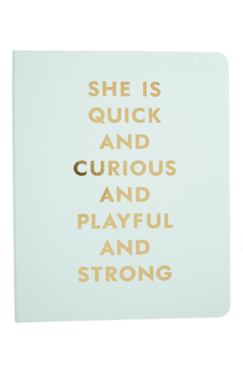 KATE SPADE NEW YORK she is quick and curious spiral notebook, Main, color, LIGHT BLUE