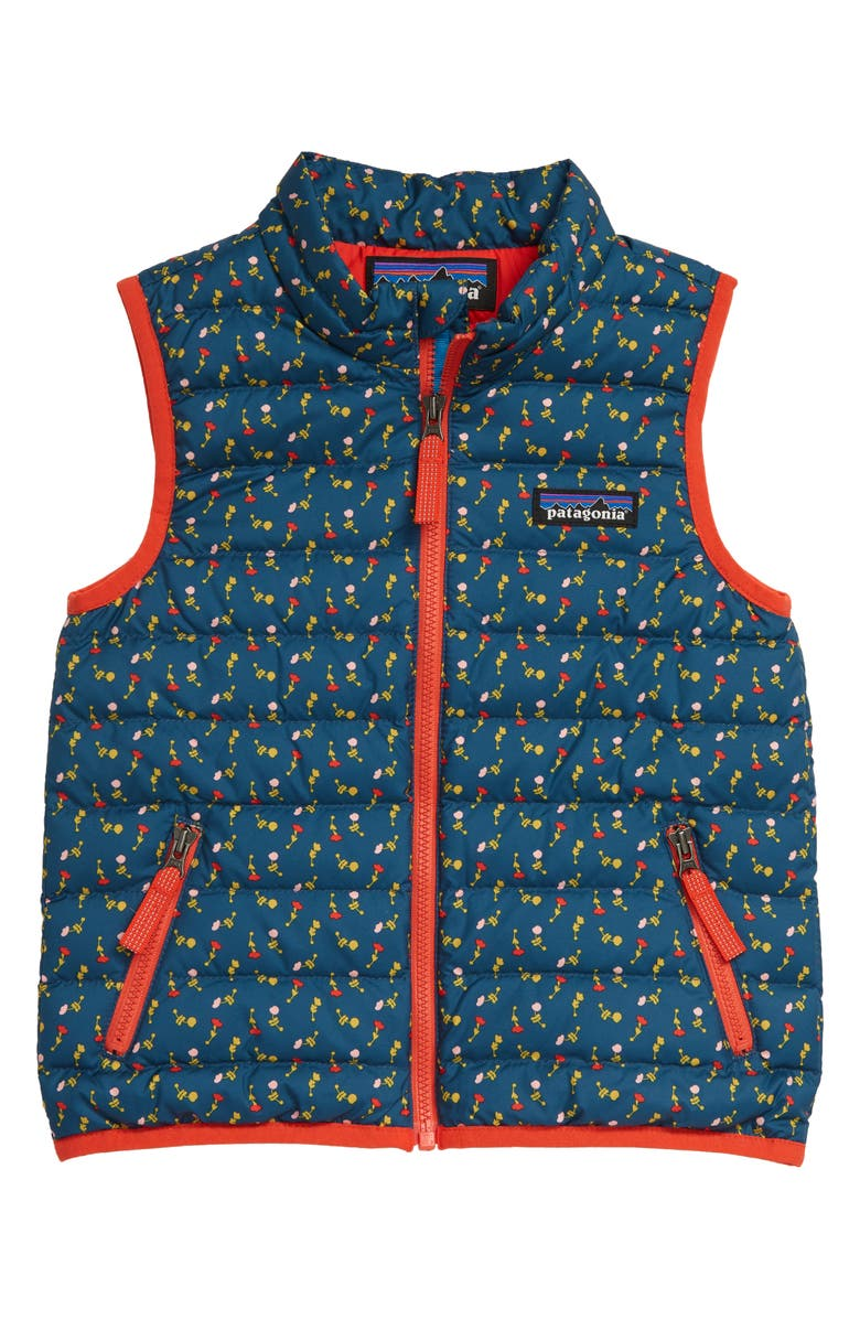 PATAGONIA 600 Fill Power Down Sweater Vest, Main, color, SLOW DANCE CRATER BLUE