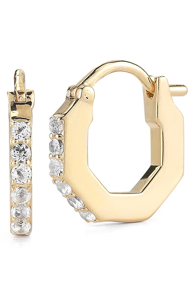 ELIZABETH AND JAMES 'Victoria' Small Hoop Earrings, Main, color, 710