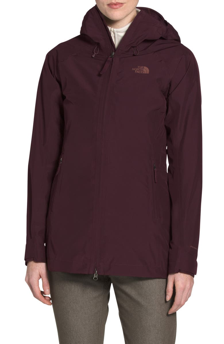 THE NORTH FACE Dryzzle Futurelight<sup>™</sup> Packable Waterproof Hooded Jacket, Main, color, ROOT BROWN