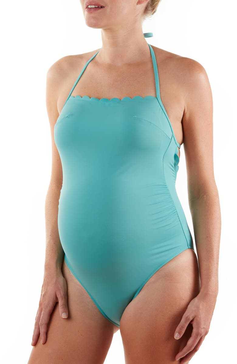 CACHE COEUR Kyoto One-Piece Maternity Swimsuit, Main, color, LAGOON