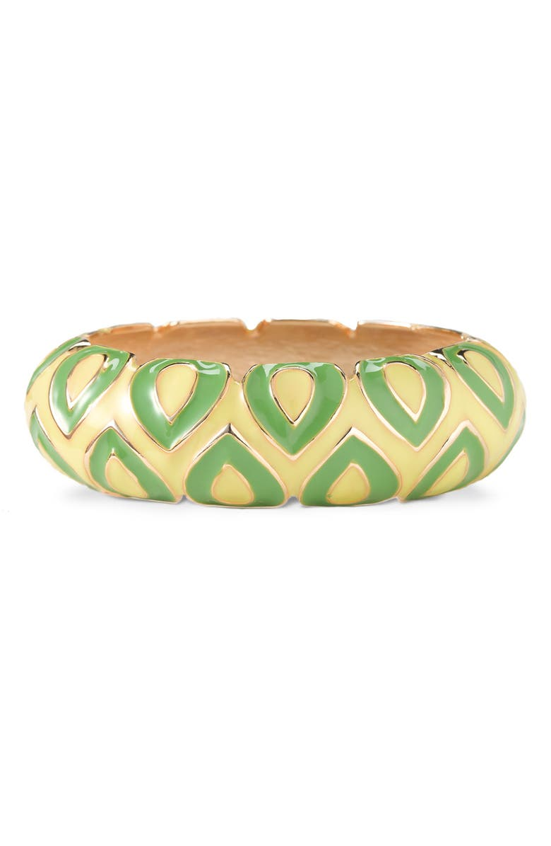 SEQUIN 'Wave' Enamel Bangle, Main, color, 300