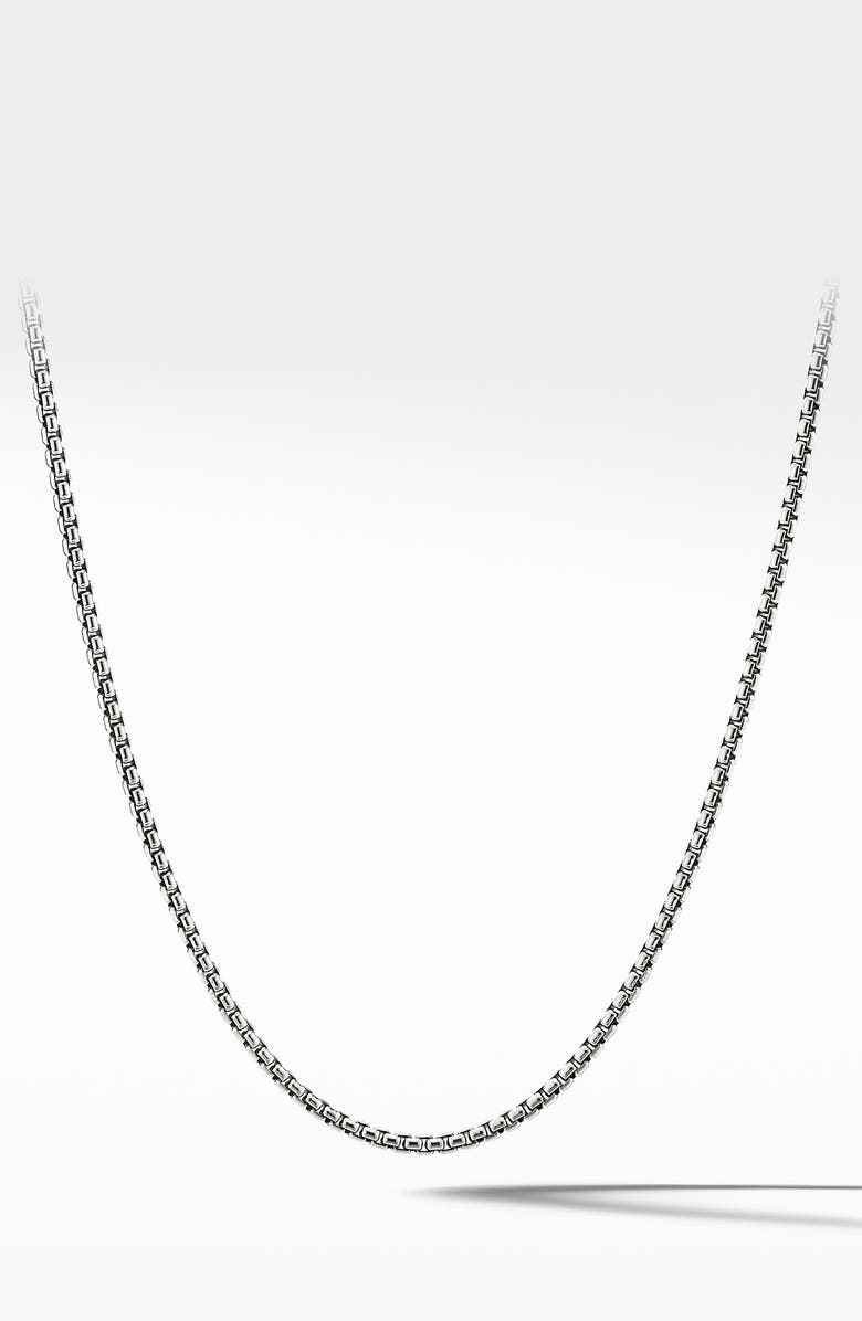 DAVID YURMAN Small Box Chain Necklace, Main, color, SILVER