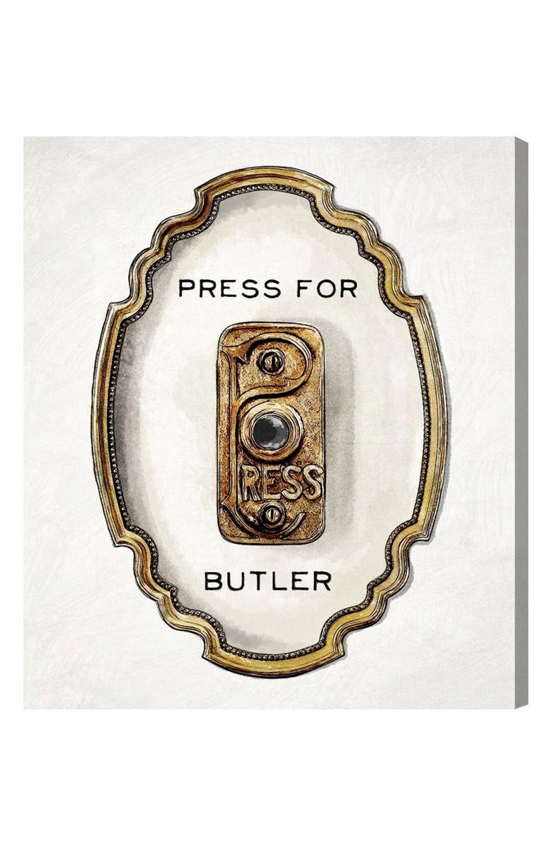 OLIVER GAL Press for Butler Canvas Wall Art, Main, color, 100