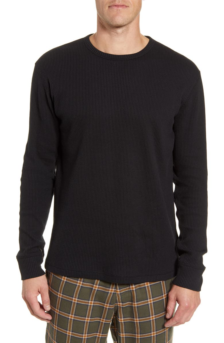 UGG<SUP>®</SUP> Adam Waffle Knit Long Sleeve T-Shirt, Main, color, 001