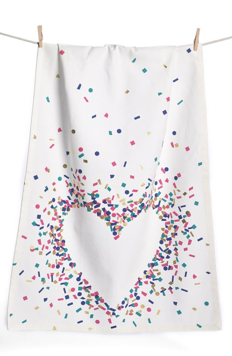 NORDSTROM at Home 'Confetti Heart' Dish Towel, Main, color, IVORY MULTI