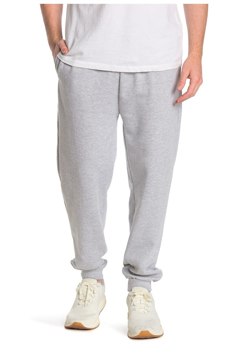 TRUNKS SURF AND SWIM CO Fleece Knit Joggers, Main, color, HEATHER GREY