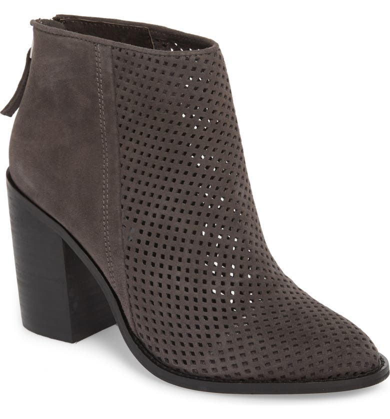 STEVE MADDEN Rumble Perforated Bootie, Main, color, 001