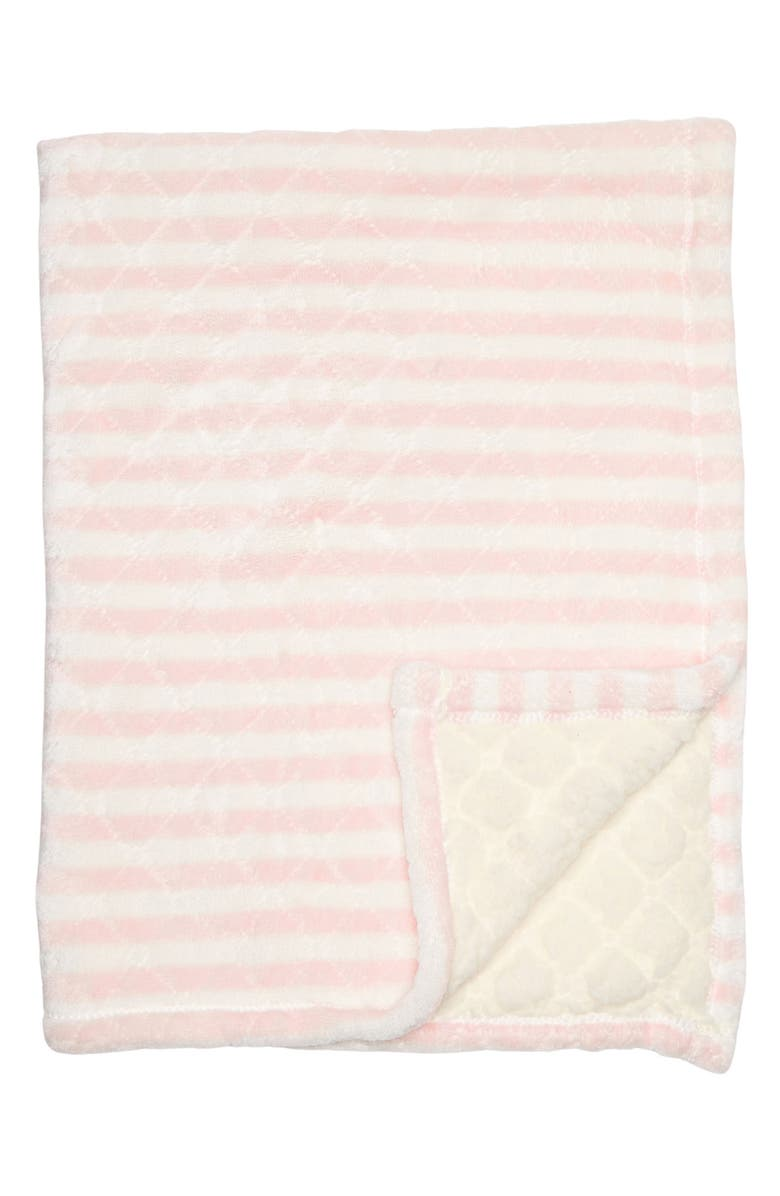 NORTHPOINT TRADING Lullaby Stripe Print Blanket, Main, color, PINK