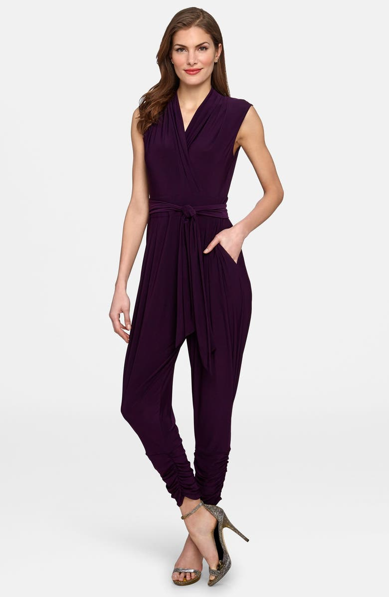 CATHERINE CATHERINE MALANDRINO 'Graham' Shirred Ankle Surplice Jumpsuit, Main, color, 566