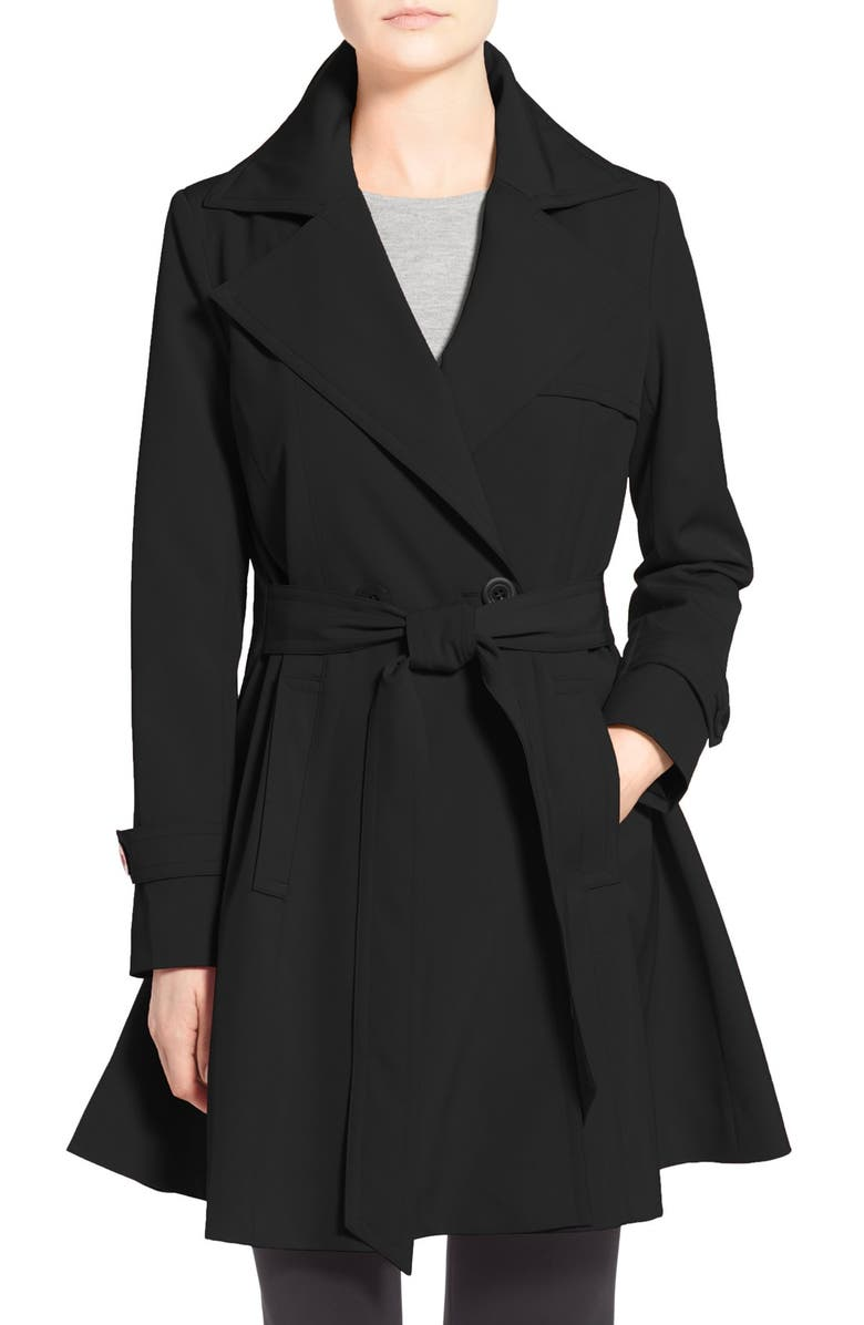 TRINA TURK 'Phoebe' Double Breasted Trench Coat, Main, color, 001