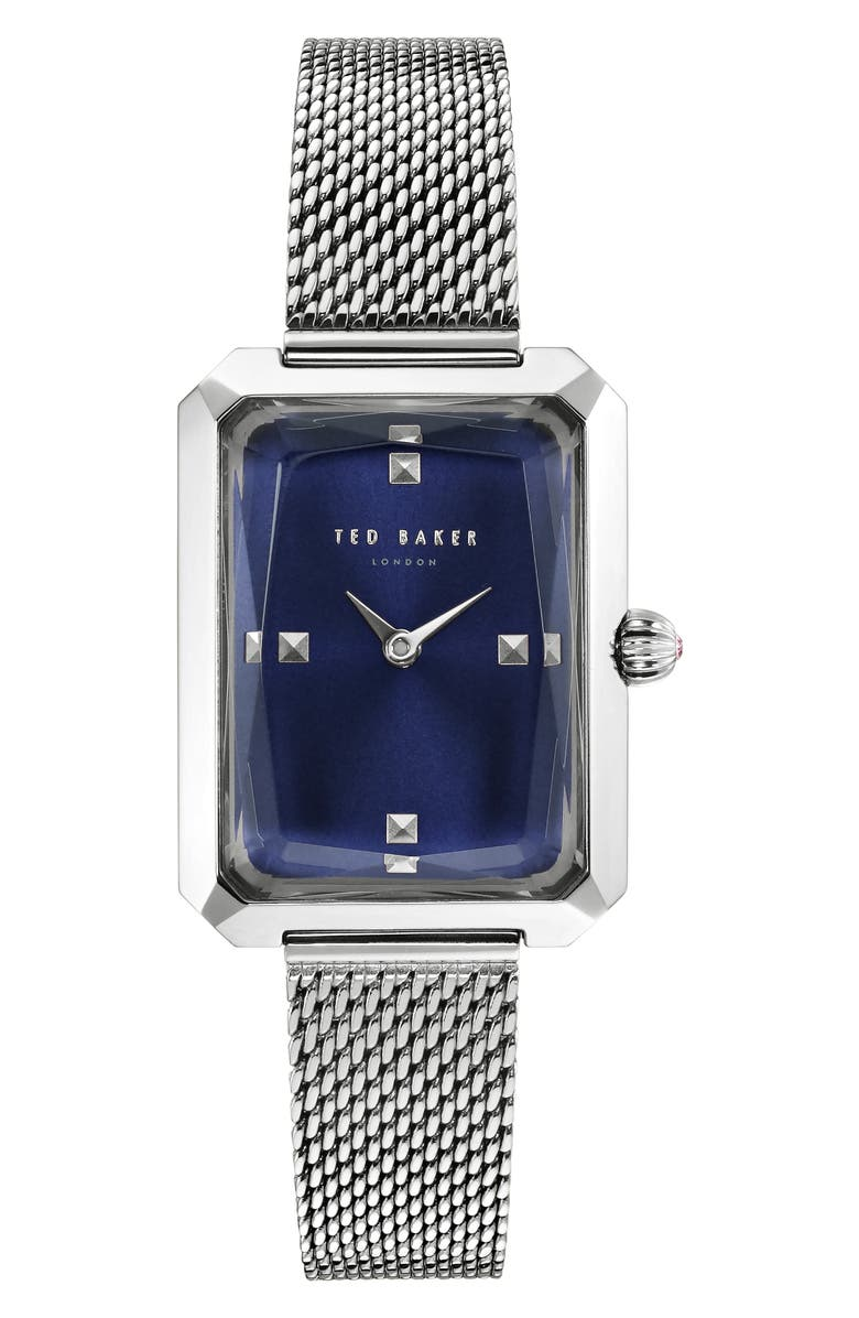 TED BAKER LONDON Cara Mesh Strap Watch, 22mm, Main, color, 040