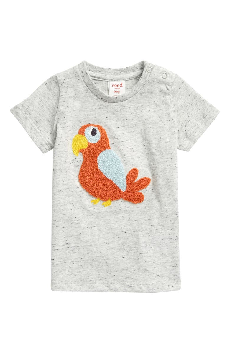 SEED HERITAGE Chenille Parrot Graphic Tee, Main, color, 020