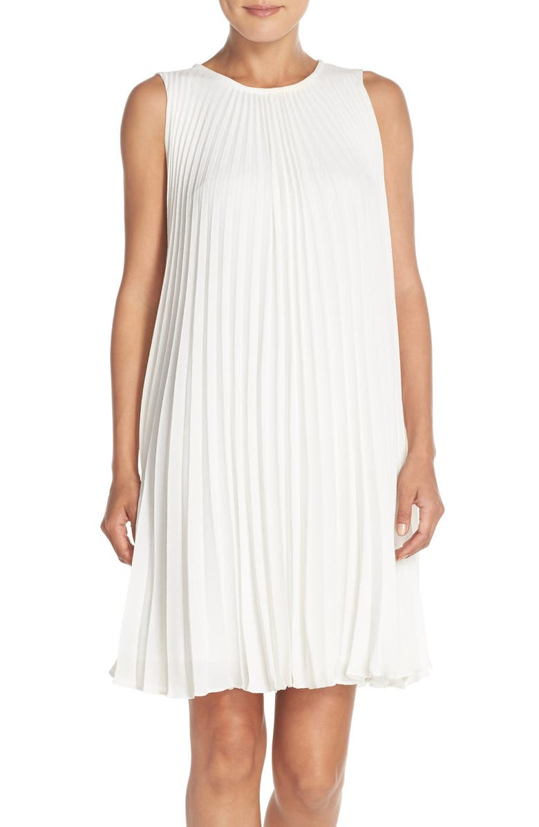 MAGGY LONDON Pleated Bubble Crepe Shift Dress, Main, color, 905
