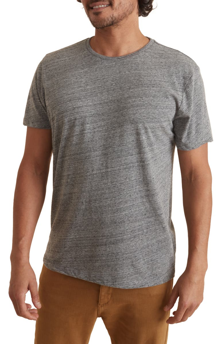 MARINE LAYER Heathered Neppy T-Shirt, Main, color, MID HEATHER GREY