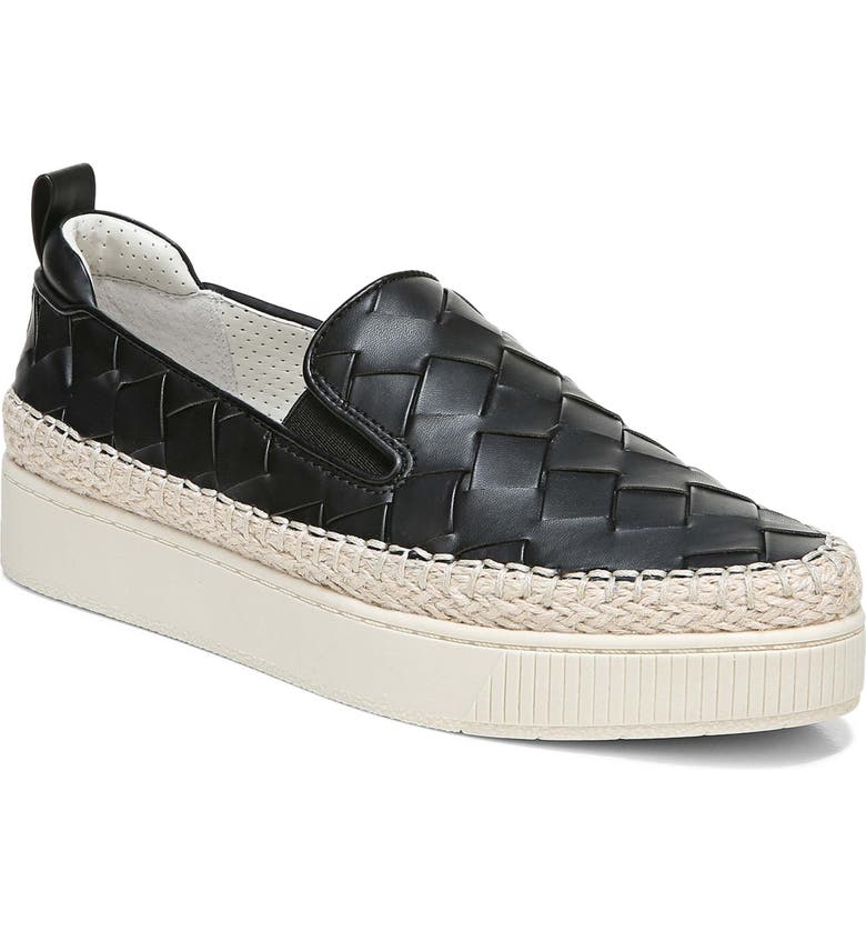 FRANCO SARTO Homer Platform Sneaker, Main, color, BLACK FAUX LEATHER