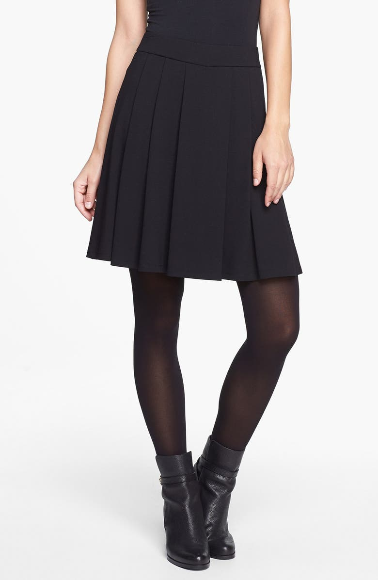 EILEEN FISHER Pleated Skirt, Main, color, 001