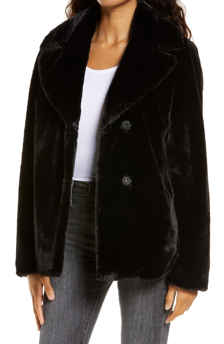 UGG<SUP>®</SUP> Rosemary Faux Fur Jacket, Main, color, 001