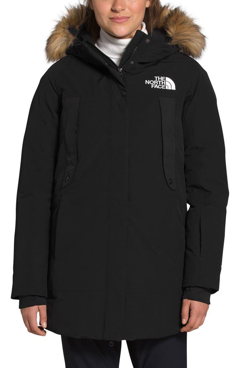 THE NORTH FACE New Outerbroughs Waterproof 550-Fill-Power Down Parka, Main, color, 002