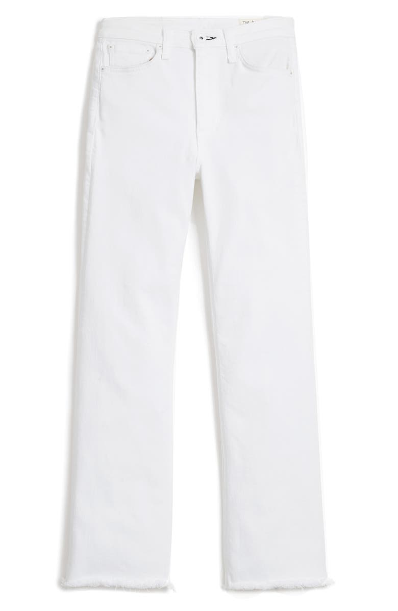 RAG & BONE Nina High Waist Ankle Flare Jeans, Main, color, OPTIC WHITE