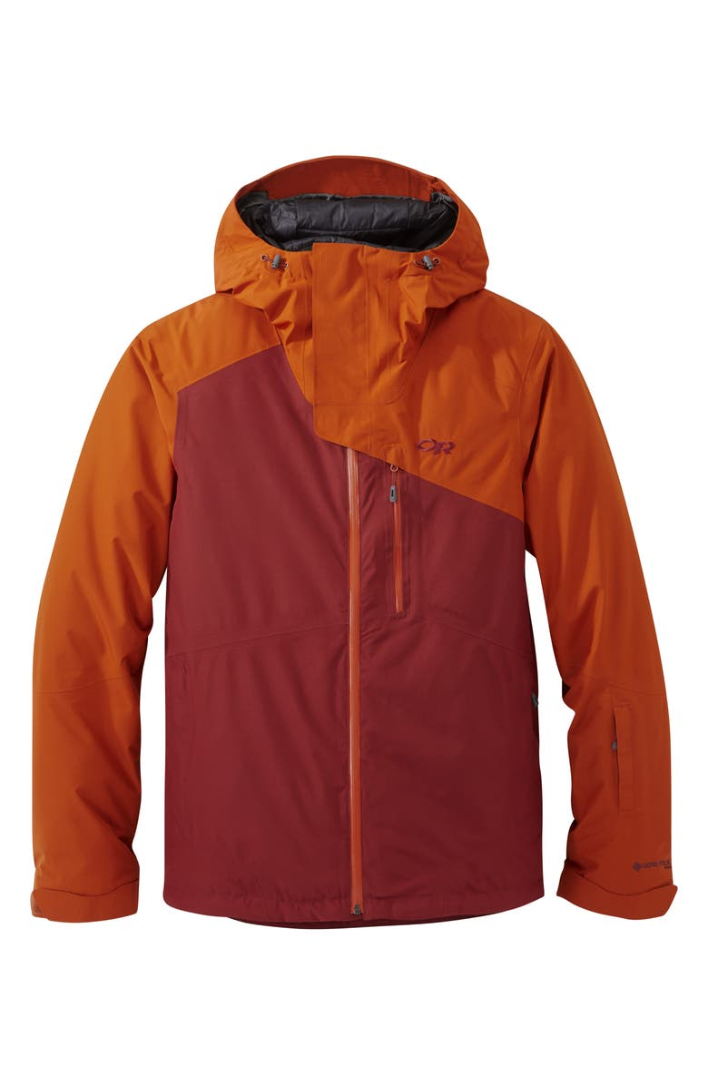 OUTDOOR RESEARCH Men's Tungsten Gore-Tex<sup>®</sup> Waterproof Snow Jacket, Main, color, MADDER/UMBER