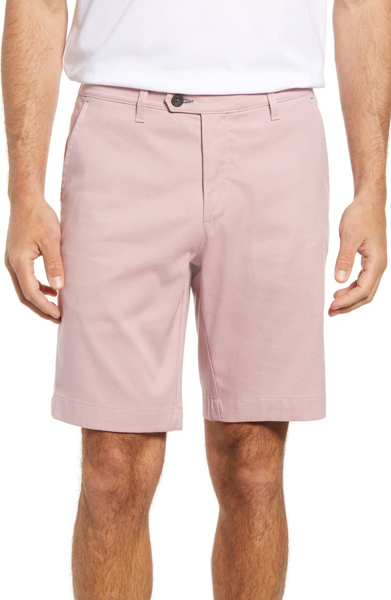 TED BAKER LONDON Cortrom Slim Fit Shorts, Main, color, CORAL