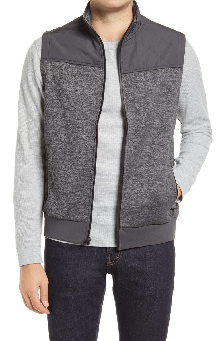 BUGATCHI Quilted Vest, Main, color, CEMENT