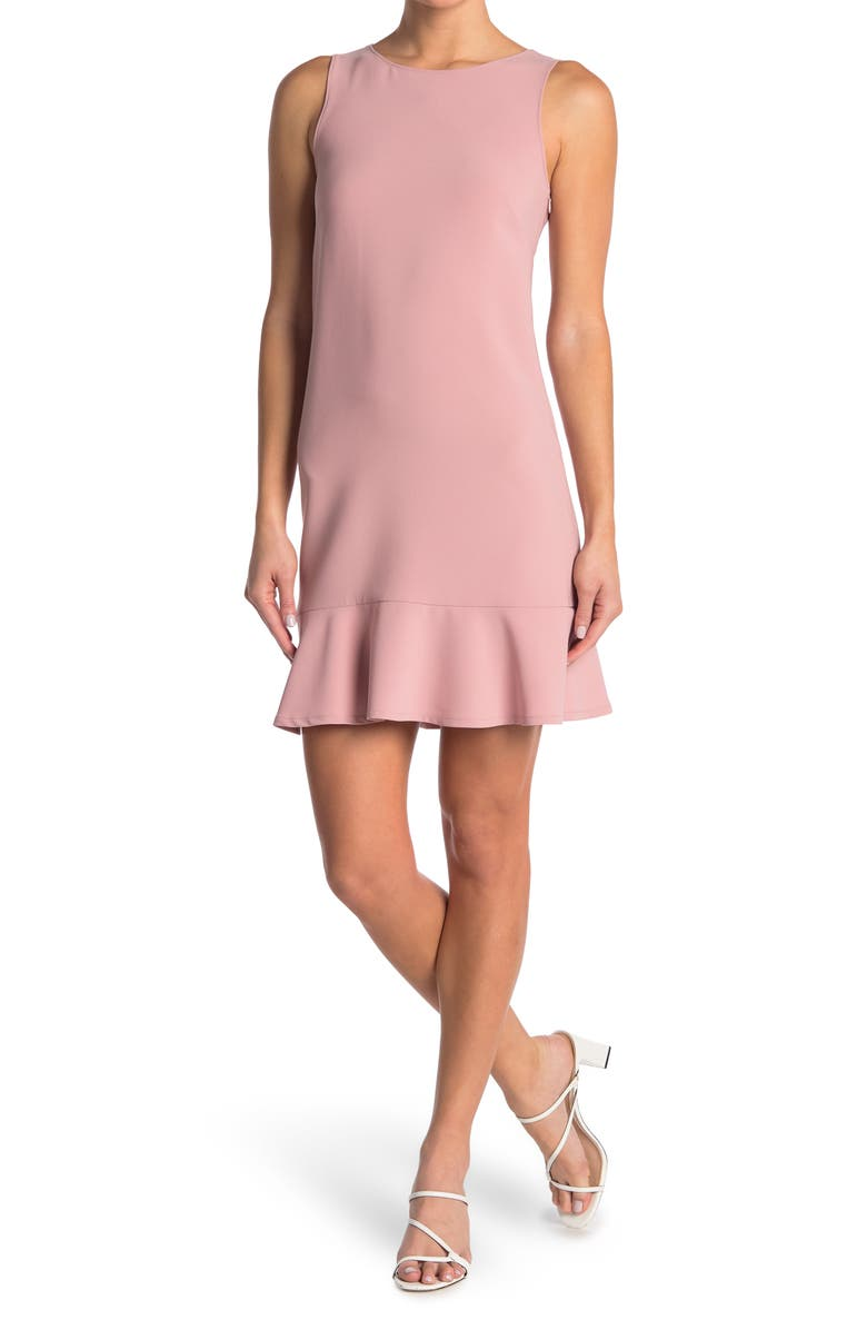 MOSCHINO Solid Sleeveless Shift Dress, Main, color, PINK