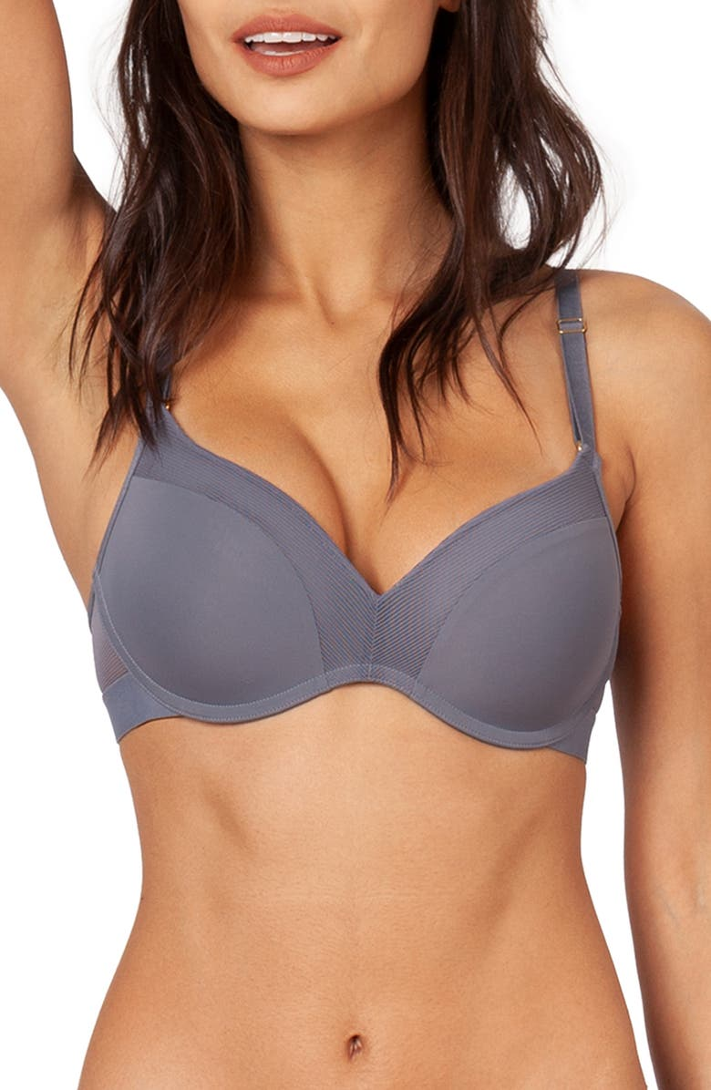 LIVELY The No-Wire Push Up Bra, Main, color, SMOKE