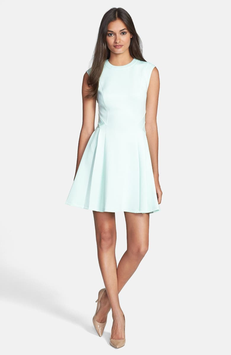 TED BAKER LONDON 'Nistee' Side Pleat Jersey Skater Dress, Main, color, 332