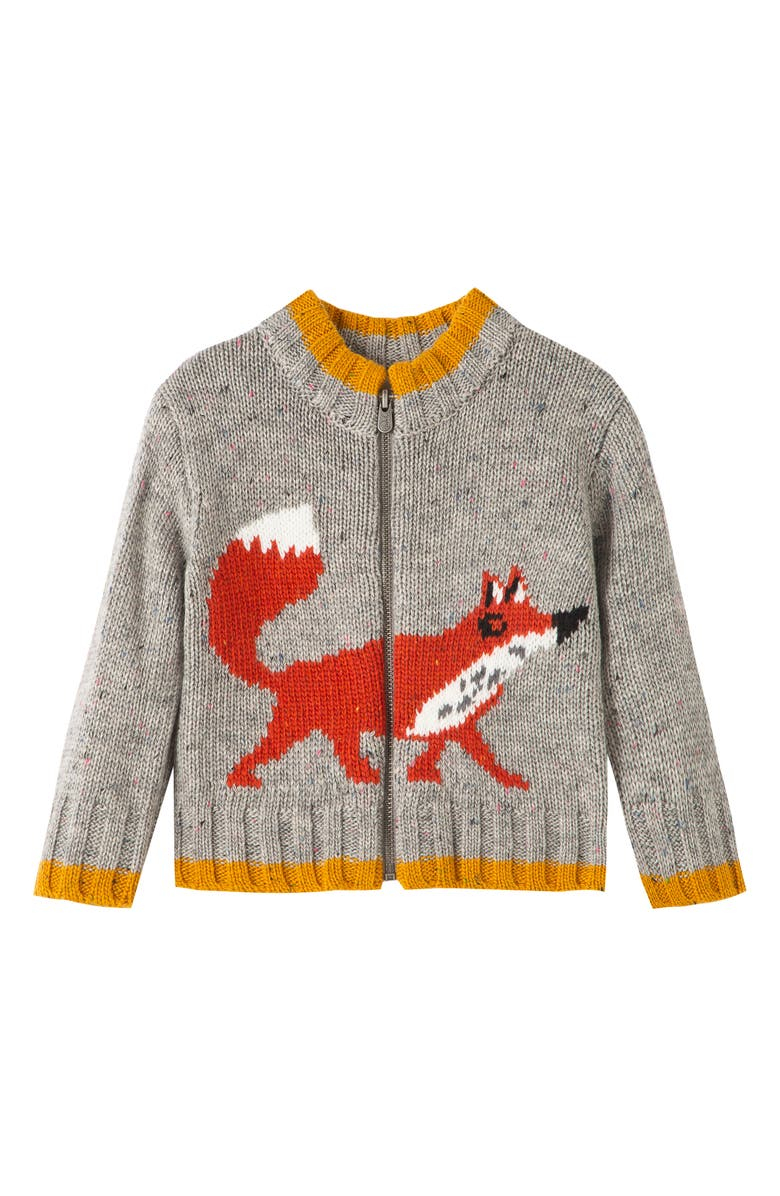 PEEK ESSENTIALS Fox Zip Up Sweater, Main, color, 020