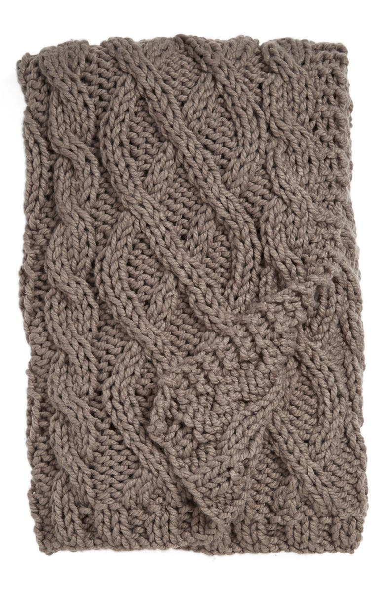NORDSTROM at Home Hand Knit Cable Throw, Main, color, 020