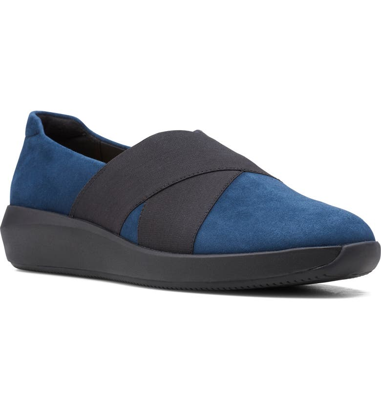 CLARKS<SUP>®</SUP> Tawnia Band Flat, Main, color, NAVY SUEDE