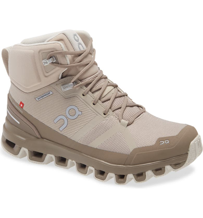 ON Cloudrock Waterproof Hiking Boot, Main, color, DESERT/ CLAY