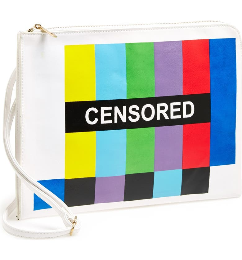 STREET LEVEL Graphic Clutch, Main, color, CENSORED