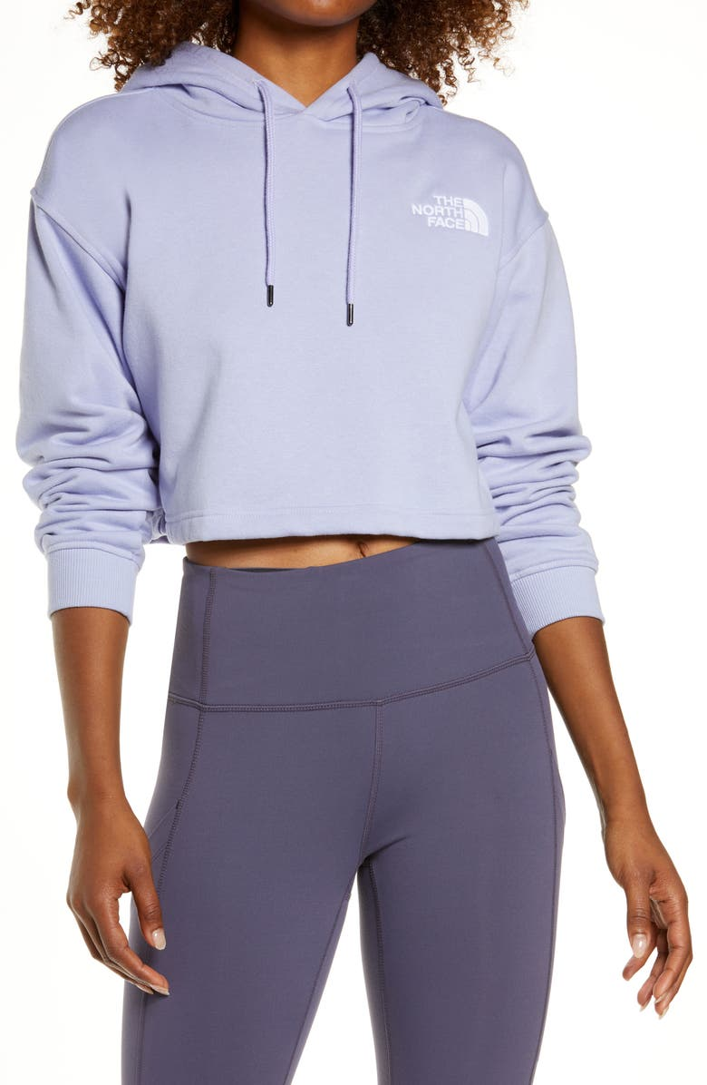 THE NORTH FACE Logo Crop Hoodie, Main, color, SWEET LAVENDER