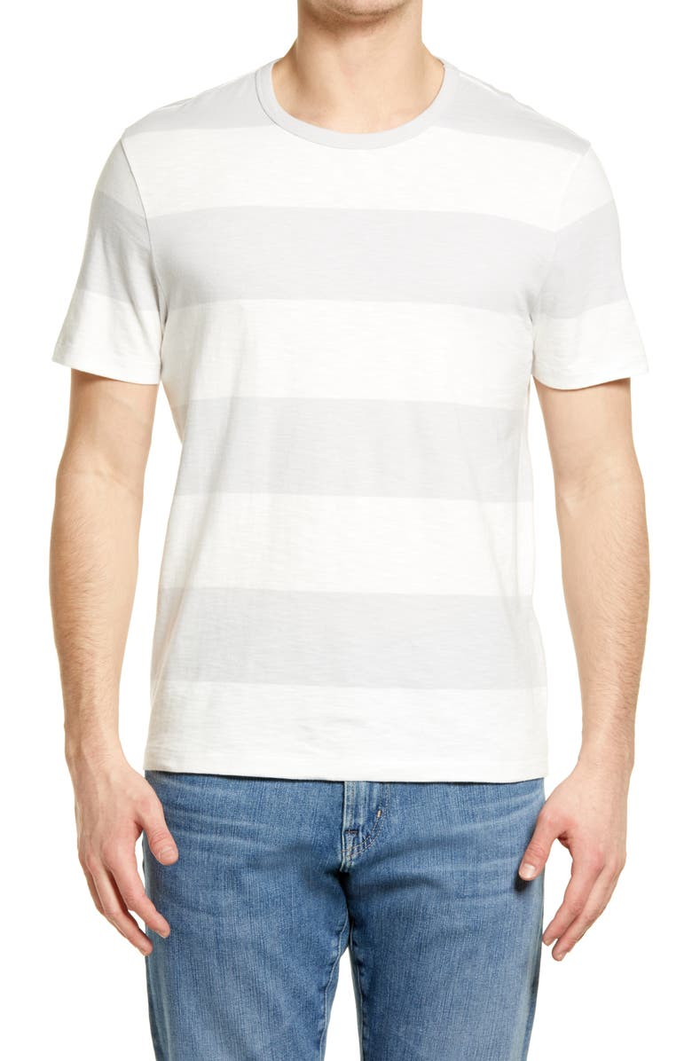 MADEWELL Allday Rugby Stripe T-Shirt, Main, color, STEAM RUGBY STRIPE