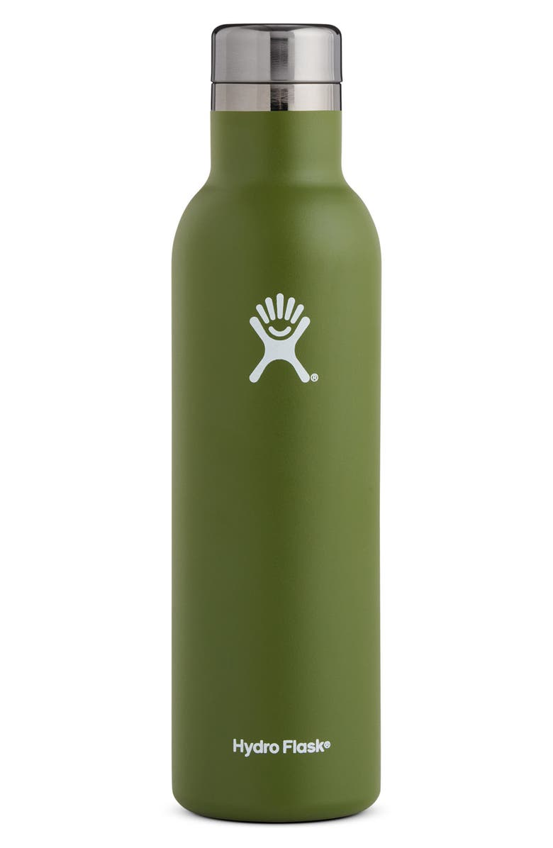 HYDRO FLASK 25 oz. Insulated Wine Bottle - Pacific, Main, color, OLIVE